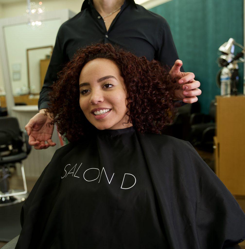 Curly Bangs Cut