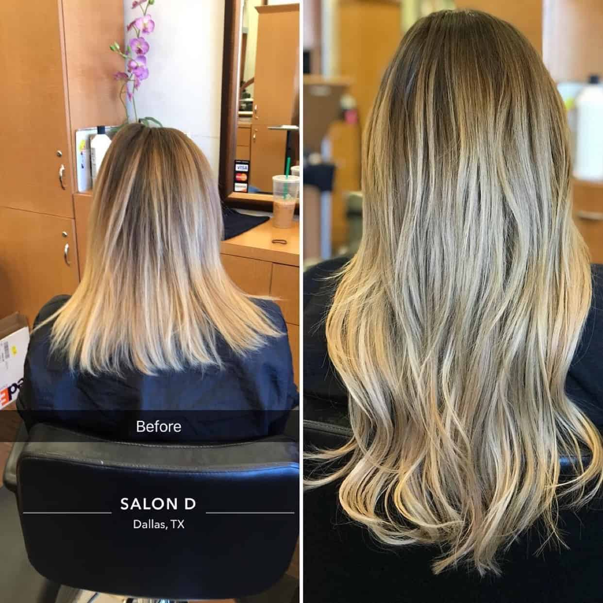 balayage extensions